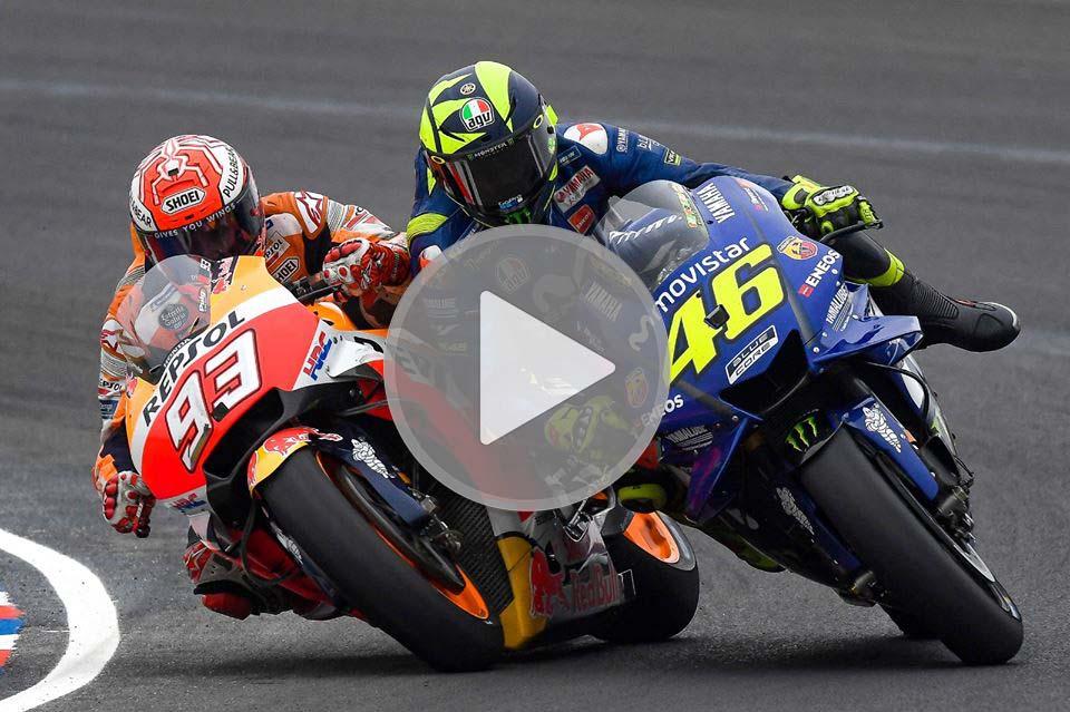 Termas Clash Video: Marquez vs Rossi, the Clash of the Titans!
