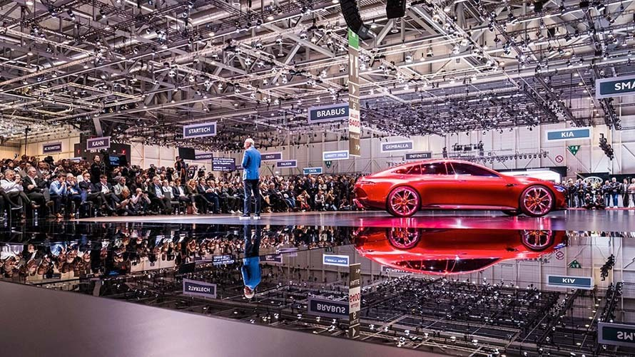 A line of Unique Cars Came up at the Geneva Motor Show 2018