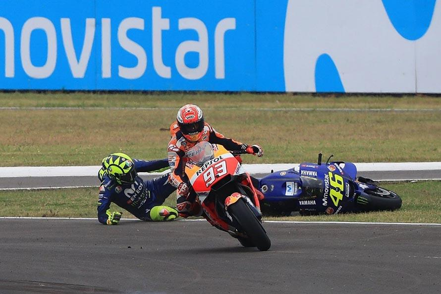 Rossi: Marquez Deliberately Wants to Take Down Other Racers